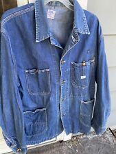 New listing Lee Jelt Denim Sanfordized Chore Coat Jacket Lot 91-J Size 44 Regular Vintage
