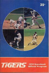 1974 (6/30 G1) Baseball program, Milwaukee Brewers @ Detroit Tigers, scored ~Gd
