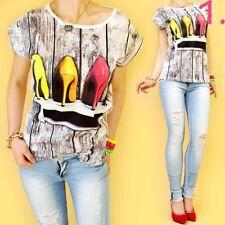 Mehrfarbige Markenlose Damenblusen, - tops & -shirts aus Baumwolle
