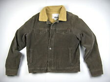 RUSTY Mens size M Brown Corduroy Thick Fleece Lined Jacket