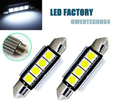 50X ERROR FREE CANBUS 4 SMD LED 39MM C5W C10W NUMBER PLATE Dome BULB White #OB3