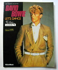 DAVID BOWIE LET'S DANCE BAND SCORE JAPAN GUITAR TAB