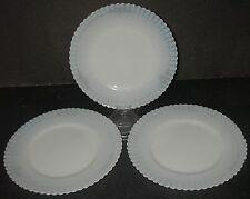 "3 Macbeth Evans Glass PETALWARE Cremax w Decal Plate Luncheon 8"" Depression"