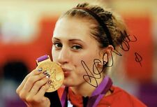 Laura TROTT Autograph Signed Olympic Photo 2 AFTAL COA Track Cyclist Gold Medal