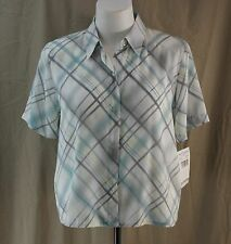 Alfred Dunner, Size 14, Stockholm Multi Button Front Top, New with Tags