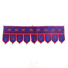 Embroidered Door Valance Topper Toran Indian Art Wall Hanging Window Pelmet
