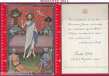 A30 SANTINO HOLY CARD RESURREZIONE DI GESù CRISTO RISURREZIONE RISORTO