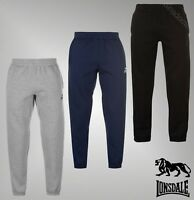 Mens Lonsdale Standard Fleece Essential Joggers Sweatpants Sizes from S to XXXL