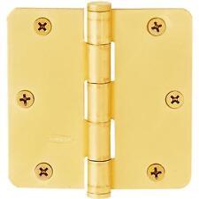 """50 Pk Full Mortise Steel Brass Plated 3 1/2"""" X 3 1/2"""" Door HInge 2/Pk N144352"""