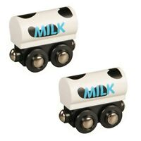 Milk Train Set of 2 for Wooden Railway Train Set 50481 - Brio Compatible