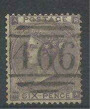 1862 Sg 85, 6d Lilac (RA) with Hairlines, Very fine used.