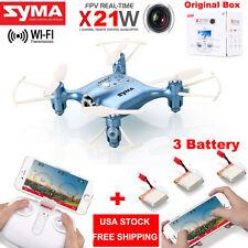 SYMA X21W WiFi FPV 2.4Ghz Mini RC Quadcopter Drone w/HD Cam High Hold +3 Battery