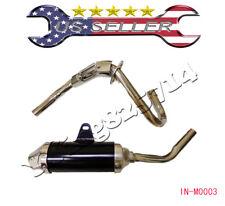 D Section Style Exhaust Pipe Muffler HONDA XR50 CRF50 BBR XR 50 125CC Black