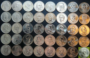 Complete Presidential Dollar 40 Coin Set Loose Roll One Ea 2007-2016 + 2020 Bush