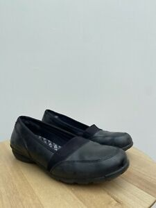 Skechers Relaxed Fit Memory Foam Slip On Pumps Flats Leather Shoes Size 4.5