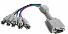 15-in VGA SVGA Male to 5 BNC Female RGB RGBS RGBHV Video Adapter Cable