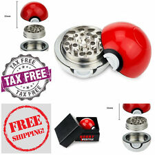 "Tobacco-Grinder-Pokemon-Herb-Crusher-Master-Ball-3-Piece-2.2""-Weed-Spice-Food"