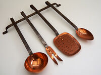 French copper utensil set and holder chef cook cuisine top quality