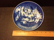 1971 Bareuther Porcelain Christmas Plate - German