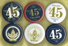 """2017(Set of 6) Donald Trump 3""""/ Official Presidential Inauguration Buttons"""