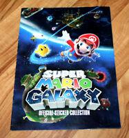 Super Mario Galaxy official sticker collection Book Nintendo Wii