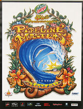 Official 30th Annual Pipeline Masters Hawaii Surfing Contest Drew Brophy Poster
