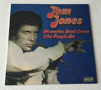 TOM JONES~MEMORIES DON'T LEAVE LIKE PEOPLE DO~1975 UK 10-TRACK VINYL LP [Ref.2]