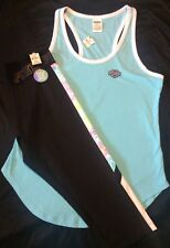 Nwt Victoria's Secret PINK S Set Tank Top Extreme Crop Ultimate Legging Logo