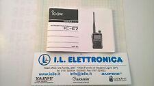 MANUALE IN ITALIANO istruzioni d'uso per ICOM IC-E7
