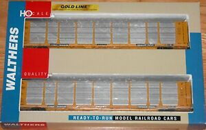 WALTHERS 932-240105 GOLD LINE BI-LEVEL ENCLOSED AUTO CARRIER 2-PK MILWAUKEE ROAD