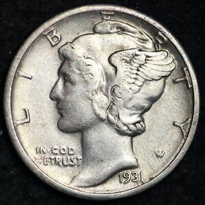 Uncertified F 1931-S Mercury Dime
