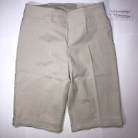 "Soft Surroundings Super Stretch 12"" Shorts Women Size M (10-12) Sea Salt Color"