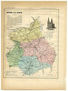 Antique Print-EURE ET LOIR-CHARTRES-CHATEAUDUN-FRANCE-Brugere-Trousset-1877