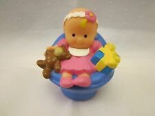 Fisher Price Little People sweet house baby girl teddy present blue hanukkah toy