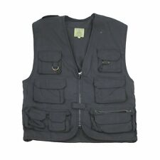 Highlander Black (L) Multi Pocket Fishing Vest Hunting Multi purpose Waistcoat