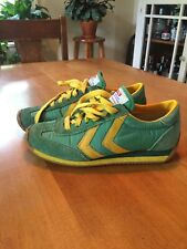 Vintage 80s Scats Green Yellow Sport Action Shoes Sz 5.5 Made In Usa Gallenkamp