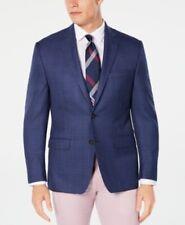 $295 RALPH LAUREN Men Two Button Jacket Blazer Blue Plaids Sport Coat Size 40R