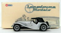Lansdowne Models 1/43 Scale LDM63 - 1938 AC 16/80 Sports Comp Roadster - Silver