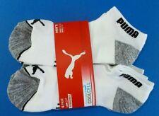 Puma Men's Low Cut Socks 6 Pack Large 10-13 White Black Grey Sport CoolCell New