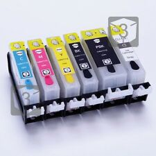 6 x EMPTY Refillable Ink cartridges PGI-520 CLI-521 for Canon Pixma MP980 MP990