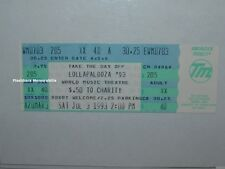 LOLLAPALOOZA 1993 Unused Concert Ticket ALICE IN CHAINS Tool PRIMUS Chicago RATM