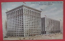 ANTIQUE MANDEL BROS-NEW STORE-STATE-MADISON STS-WABASH AVE POSTCARD-CHICAGO IL