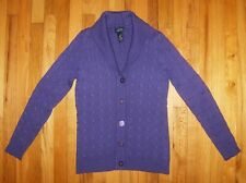 JONES NY Signature ~Size S ~PURPLE Cable-Knit CARDIGAN SWEATER ~100% Cotton