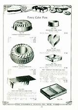 Catalog Page Ad Pettee Co Fancy Rod Cake Pans Muffin  Soda Fountain Supply 1922