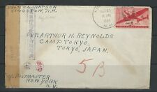 USA prison cover 1944 from Kingston to Japan with Examined lable 11103