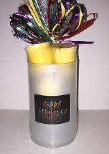 Swan Creek Candle HAPPY BIRTHDAY Hurricane w/ 5 Votive Gift Set