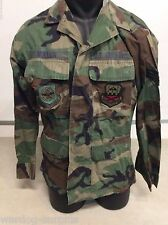 USGI USAF AIR MOBILITY COMMAND 165TH WOODLAND BDU COAT TOP BLOUSE SMALL REG COLD