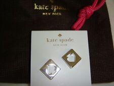 Kate Spade New York Silver Hole Punch Spade Earrings