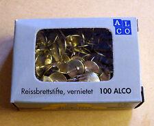 Reißzwecken Reißnägel Heftzwecken Reissberttstifte gold 100 Stück Pinnwand Neu.