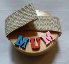 BRAND NEW PERSONALISED 'MUM' HAND HELD SMALL WOODEN RUBBER MASSAGER - see pic